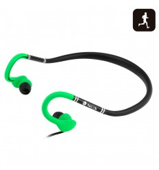 NGS Green Cougar gancho de oreja, Dentro de oído Binaurale Alámbrico Negro, Verde auriculares para móvil