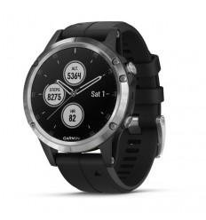Reloj Garmin Fenix 5 Plus Plata Correa Negra