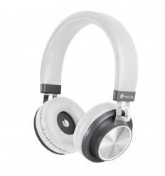 NGS Artica Patrol White auriculares para móvil Binaural Diadema Gris, Blanco Inalámbrico y alámbrico