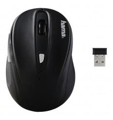 Hama AM-8200 ratón RF inalámbrico Óptico 1200 DPI Ambidextro Negro