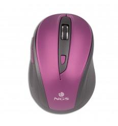 NGS Evo Mute ratón RF inalámbrico Óptico 1600 DPI mano derecha Negro, Púrpura