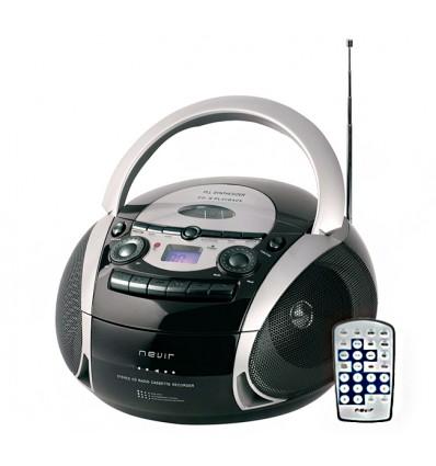Nueva Radio CD Caset Mando A distancia Eco Pro Garantia Española NEVIR NVR-482UCM Negro